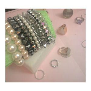 Bracelet Set of 8: Pearls, Crystals, & Rhinestones